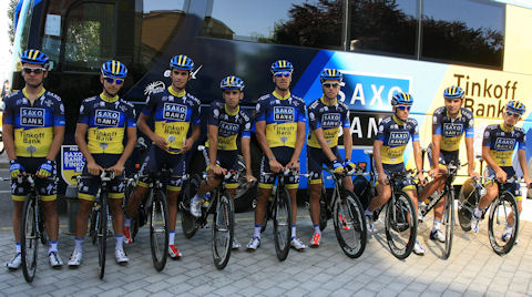 Saxo-Tinkoff boys for the 2012 Vuelta