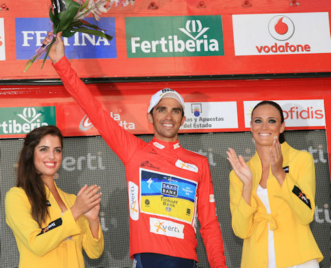 La Vuelta 2012, Stage 18 podium