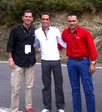 Contador and distinguished friends at Vuelta Stage 13