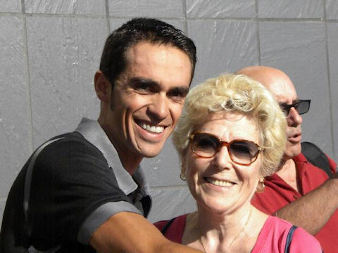 Alberto with our correspondent Christine