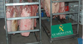 Spains' Guardia Civil seized thousands of kilos of unsafe meat