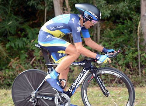 Contador in La Vuelta 2012 Stage 11 time trial